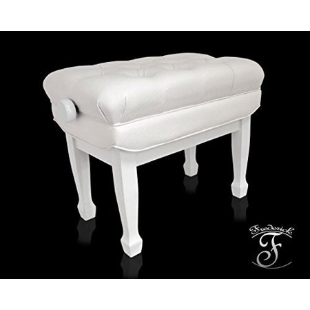 Frederick Concert Series Adjustable Piano Bench - White Polish (Polish Piano)
