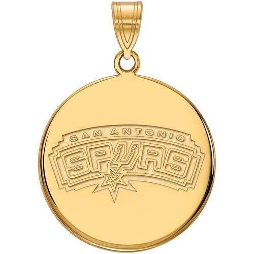 LogoArt NBA San Antonio Spurs 14kt Yellow Gold Large Disc Pendant