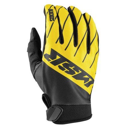 MSR Axxis Youth Gloves Black/Yellow/Gray (Yellow, X-Small)