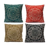 Product Image Meigar Compass Vintage Throw Pillow Cushion Cover 18''x18'' Cotton Linen PillowCase