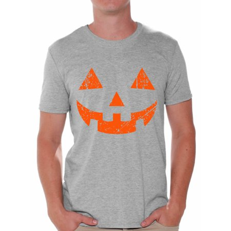 Awkward Styles Jack-O'-Lantern Tshirt Halloween Shirt for Men Halloween Party T Shirt Trick Or Treat Family Shirt Holiday Gifts for Him Pumpkin Face Tshirt Halloween Pumpkin Outfit Pumpkin Shirts - Halloween Pumpkin Outfit
