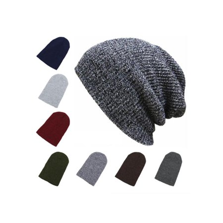 Unisex Men s Women s Hip-hop Cotton Knit Beanie Hat Baggy Ski Slouchy Cap  Skull Winter Warm Hat - Walmart.com fcca042fa2ed