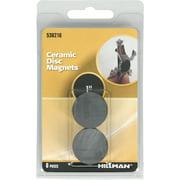 "Hillman 536216 Ceramic Disc Magnets (1"") - 6 Pieces"