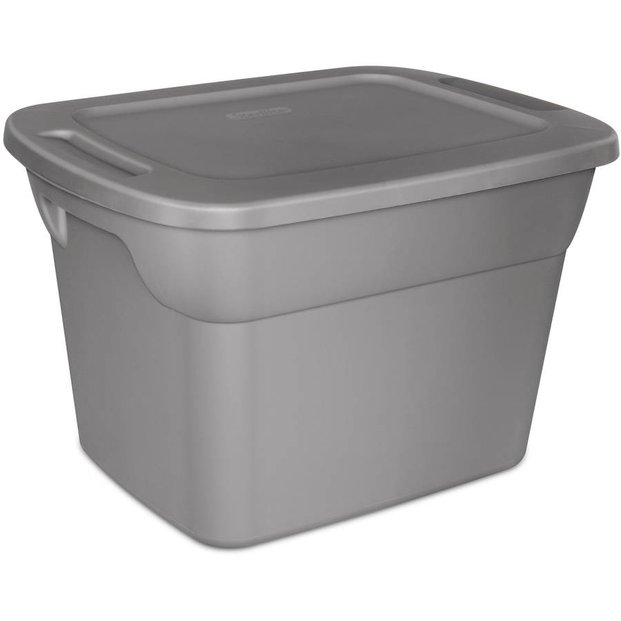 8 Plastic Storage Tote Box Stackable 18 Gallon Gray  sc 1 st  everythingsbettersprouted.com & Unique Ideas Of Walmart Plastic Storage Containers - Best Home Plans ...
