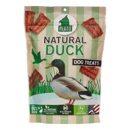 Plato Natural Duck Strips, 16 Ounce