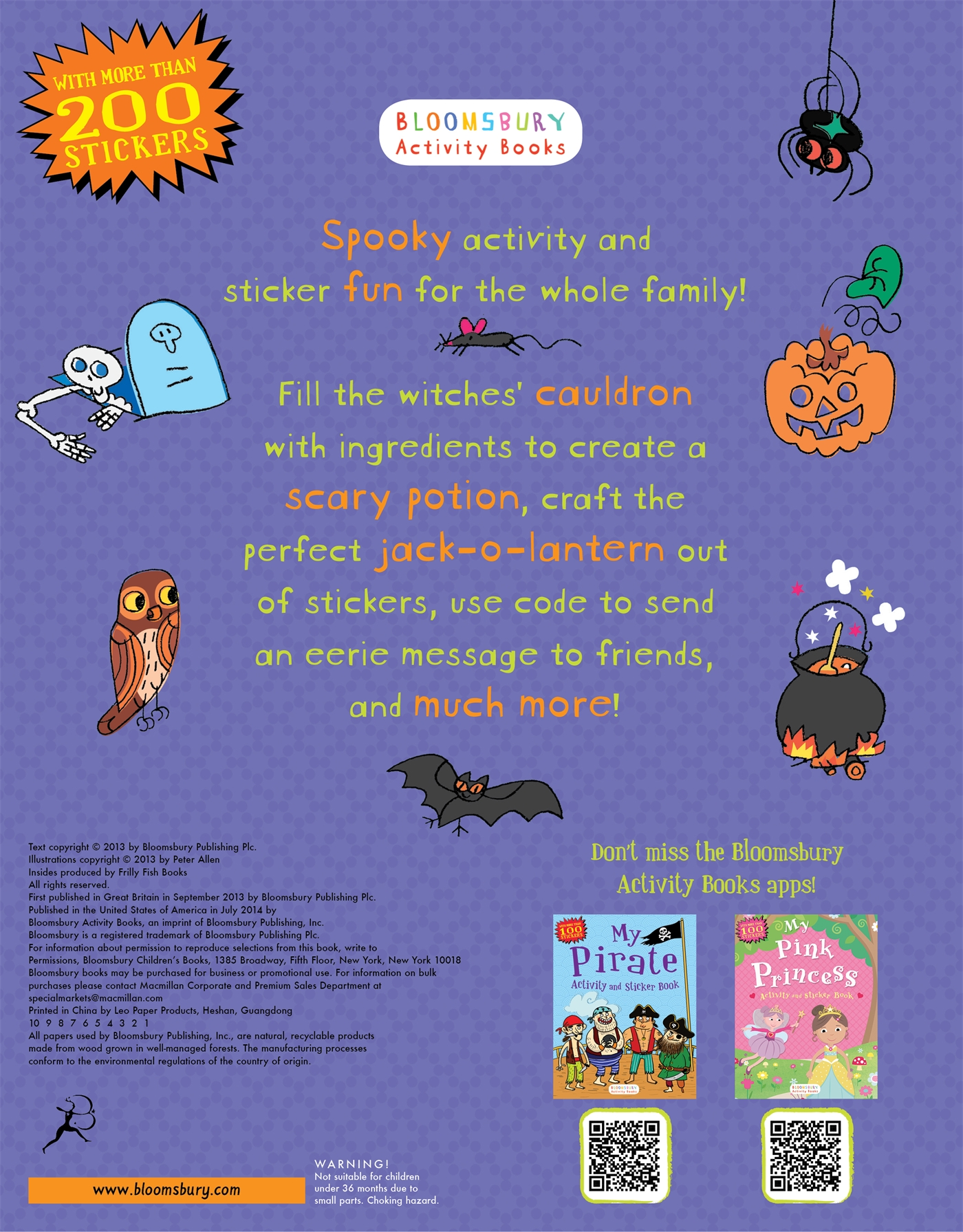 My Spooky Halloween Activity And Sticker Book Paperback Books Pretty Pink