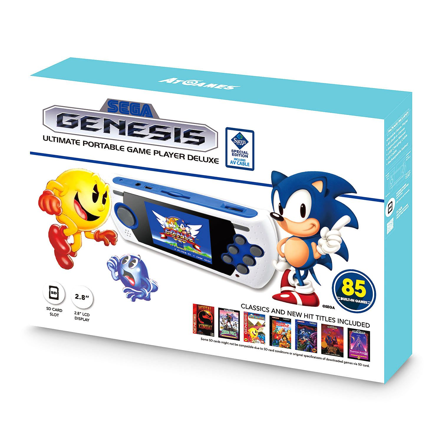 SEGA Genesis Ultimate Portable Game Player Deluxe - Bonus AV Cable - Exclusive Set - New 2017!