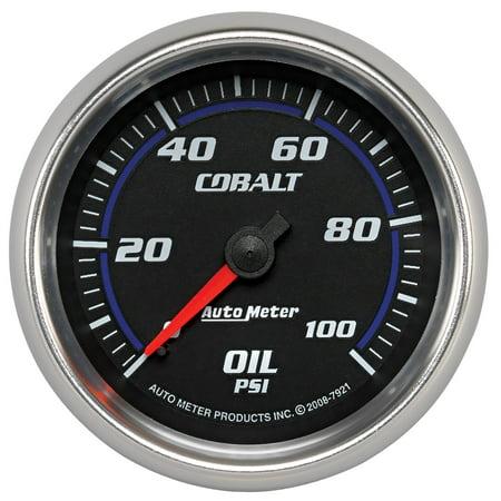 AutoMeter 7921 Cobalt Mechanical Oil Pressure Gauge Autometer Autogage Mechanical Oil