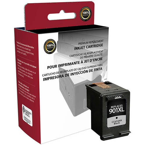 CIG Remanufactured High Yield Black Ink Cartridge (Alternative for HP CC654AN 901XL) (700 Yield)