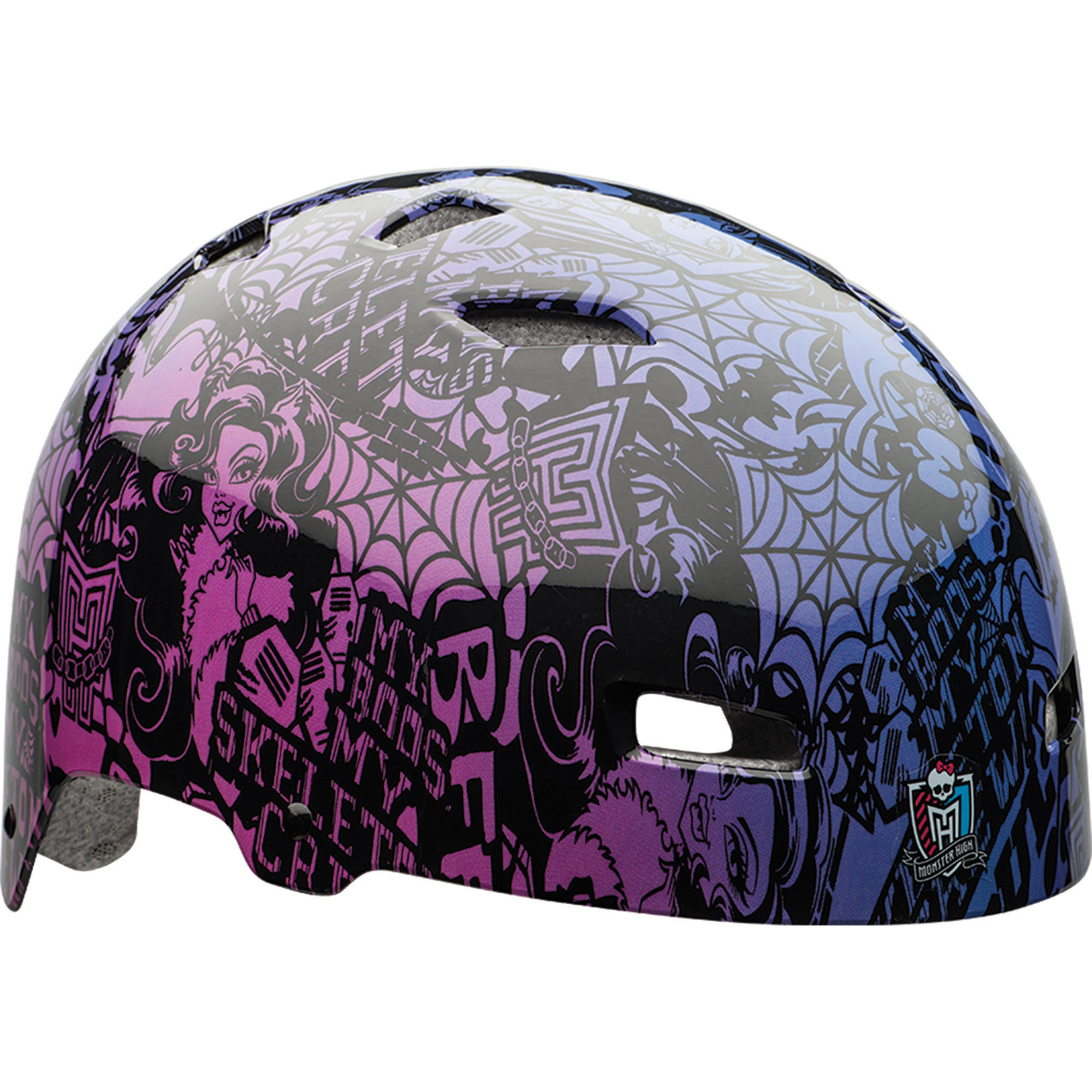 Bell Sports Monster High Youth Multisport Helmet, Black/Purple