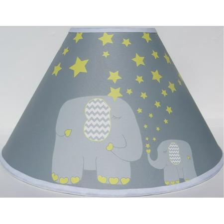 Yellow Elephant Lamp Shades Nursery Decor With Staroon
