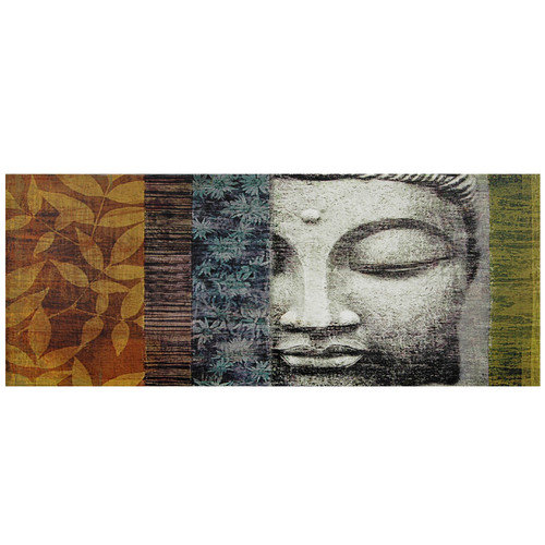 Oriental Furniture Buddha Statue Graphic Art on Wrapped Canvas