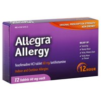Allegra Allergy, 12 hour, Indoor and Outdoor - 12 tablets