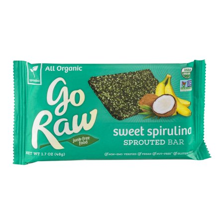 Go Raw Bar doux spiruline germés, 1.7 OZ