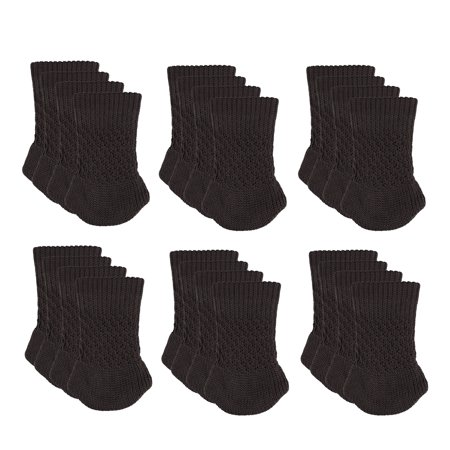 Chair Socks, TSV 24-Pack Knitted Furniture Chair Leg Covers, Anti-Slip Knitting Floor Protector Table Sock Sets for Chair/Filing Cabinet/Table/Desks ()