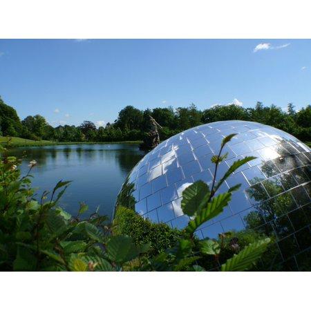 LAMINATED POSTER Sky Ball Art Mirror Ball Water Mirror Blue Lake Poster Print 24 x -