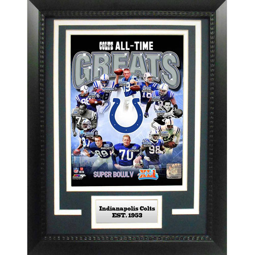 """NFL Indianapolis Colts Greats 11"""" x 14"""" Deluxe Frame"""