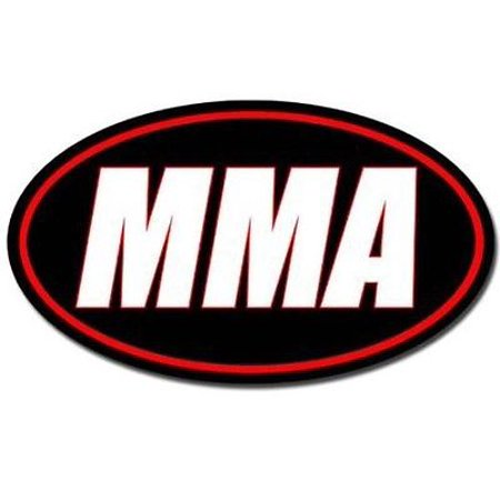 - 3x5 inch Oval MMA Sticker -mixed martial arts fight fighting octagon tap out ufc