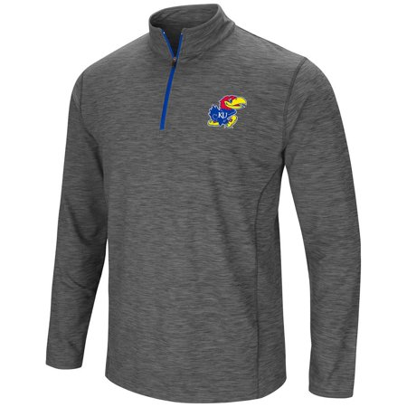 Kansas Jayhawks Mat - Mens Kansas Jayhawks Action Pass Long Sleeve Quarter Zip Wind Shirt