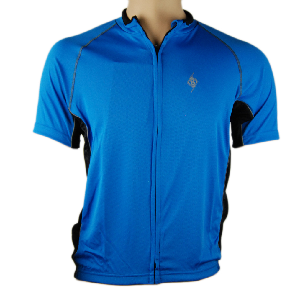 Origin8 Apparel TechSport Short-Sleeve Cycling Jersey Small - Blue