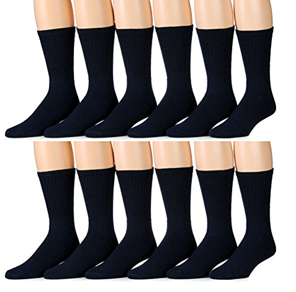 6 Pair Of excell Mens White Diabetic Neuropathy Socks, Sock Size 10-13
