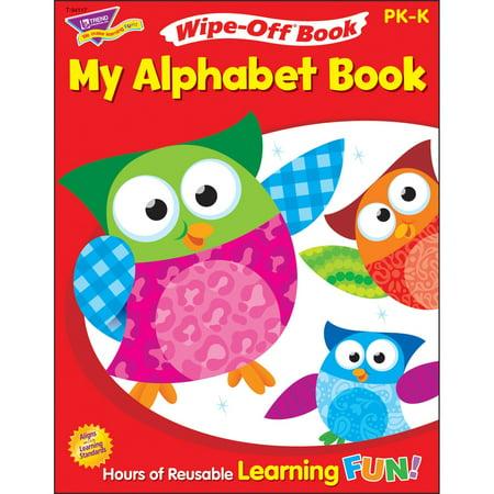 Trend Alphabet Match (Trend, TEP94117, My Alphabet Owl-Stars! Wipe-off Book, 1 Each)