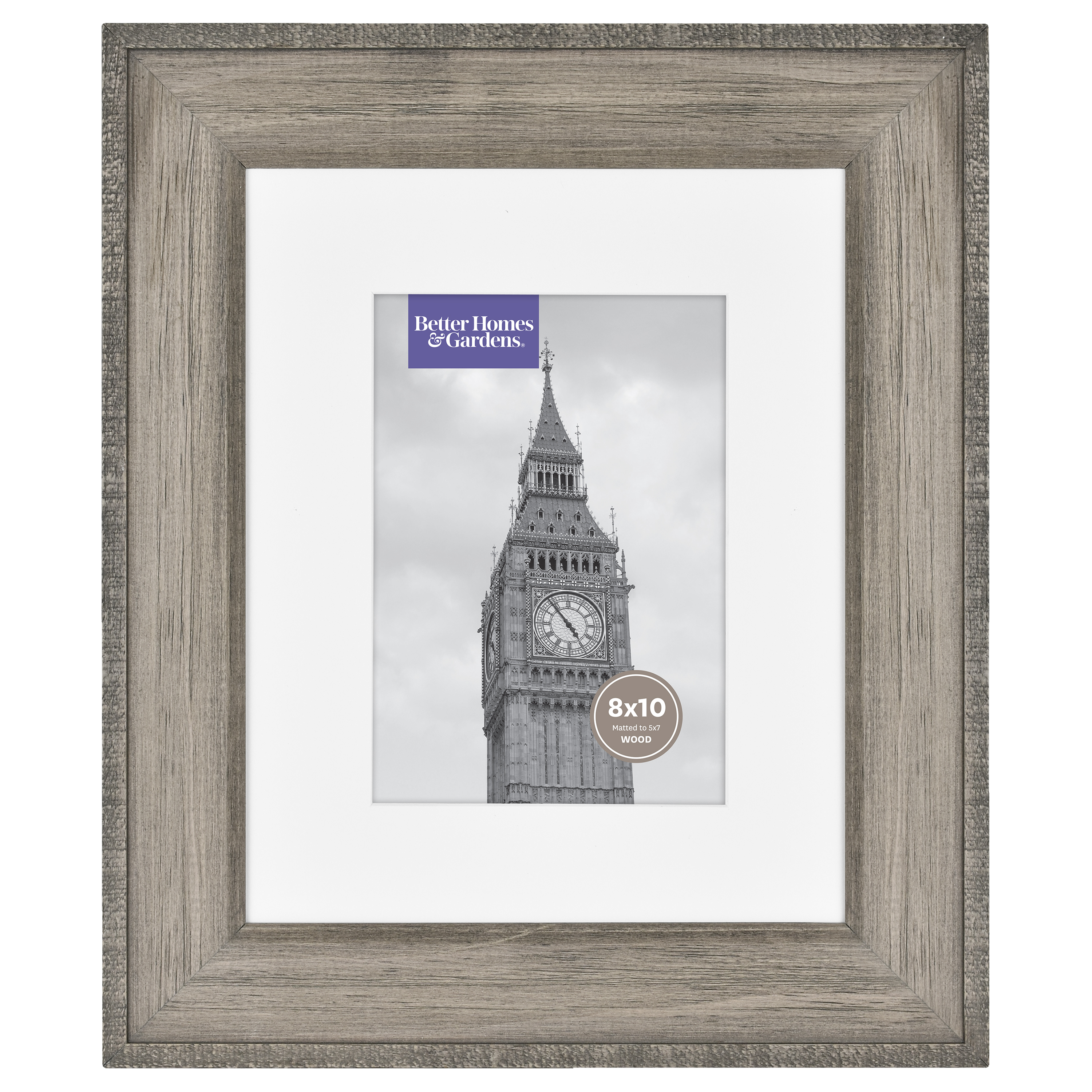 """Better Homes & Gardens 8"""" x 10"""" Rustic Wood Gallery Frame"""