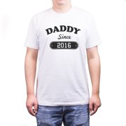 Daddy Since 2016 Shirt Cute Brand New Dad Tee Father's Day Gift for New Father
