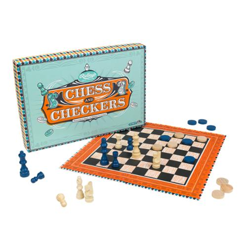 Ridley's House Of Novelties Chess & Checkers Board Game