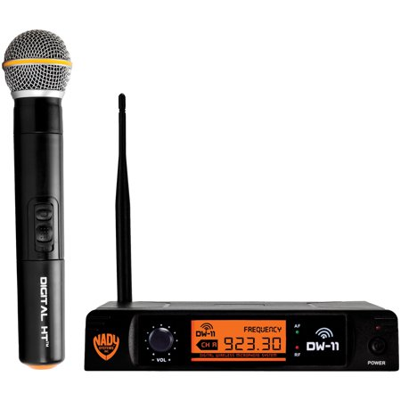 Nady DW-11-HT-ANY Single-Channel Digital Wireless Microphone System (Digital HT Handheld Microphone) Nady Professional Wireless Handheld Microphone