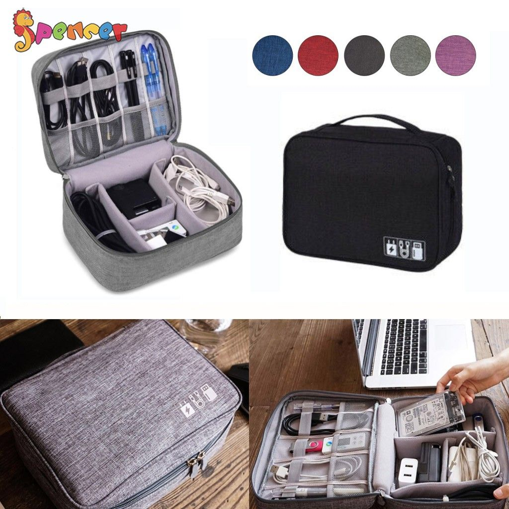Travel Cable Bag Organizer Charger Storage Electronics USB Case Cord Accessories
