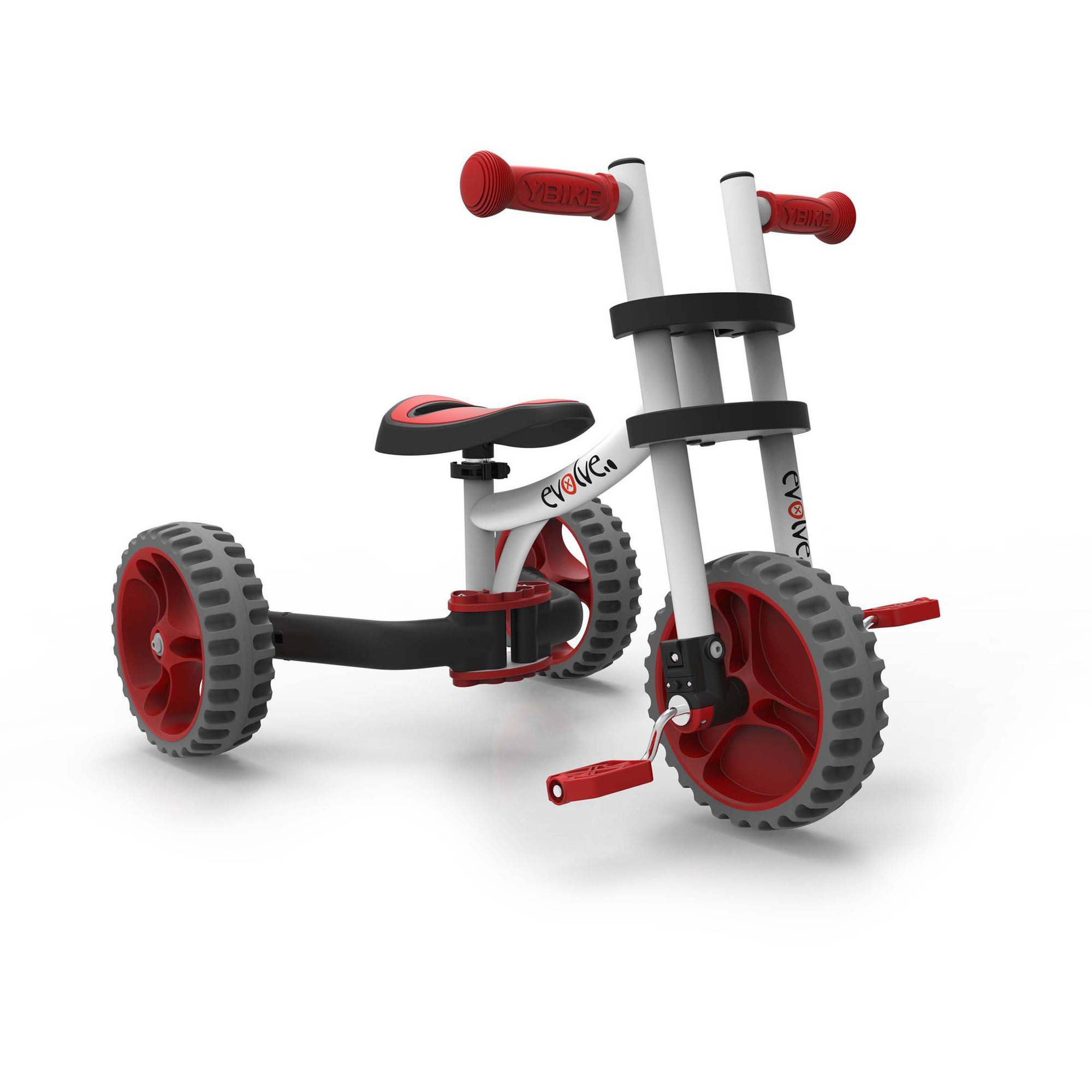 YBIKE Evolve Balance Trike, White/Red