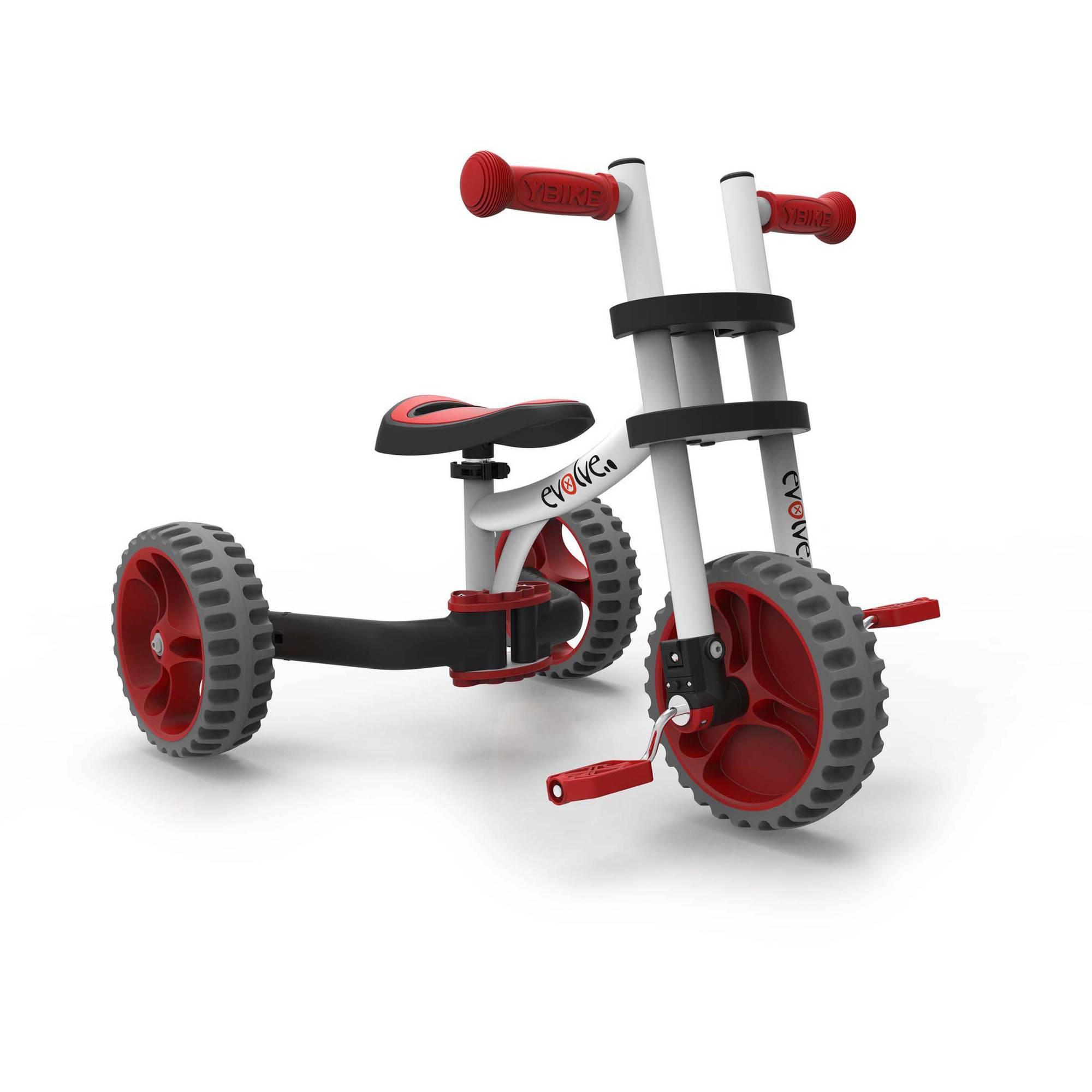 YBIKE Evolve Balance Trike, White/Red