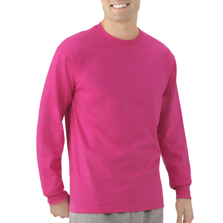 Fruit of the Loom Platinum Eversoft Men's Long Sleeve Crew T Shirt ...