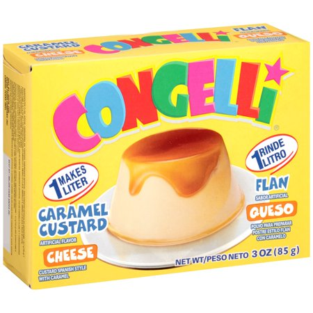 (5 Pack) Congelli Cheese Caramel Custard, 3 oz