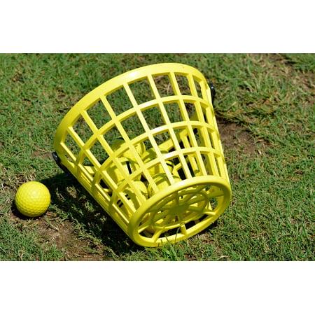 Framed Art For Your Wall Golf Golf Ball Basket Driving Range Practice Ball 10x13 Frame