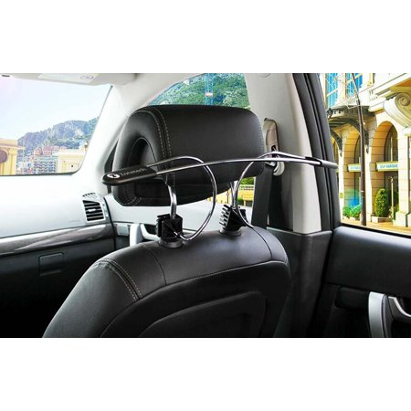 Zone Tech Metal Car Hanger Headrest Clothes Holder Travel Vehicle