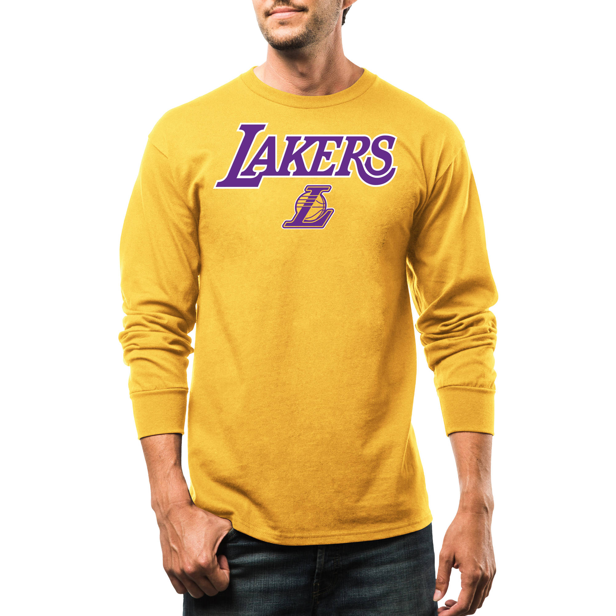 NBA Los Angeles Lakers Big Men's Long Sleeve Tee