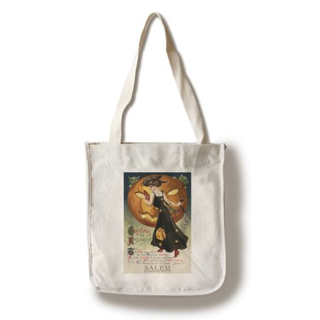 Salem, Massachusetts - Halloween Witch Dance - Vintage Postcard (100% Cotton Tote Bag - - Dance Postcard