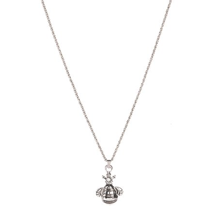 Queen Bee Fashion Charm Necklace - By Ganz (Queen Bee Necklace)