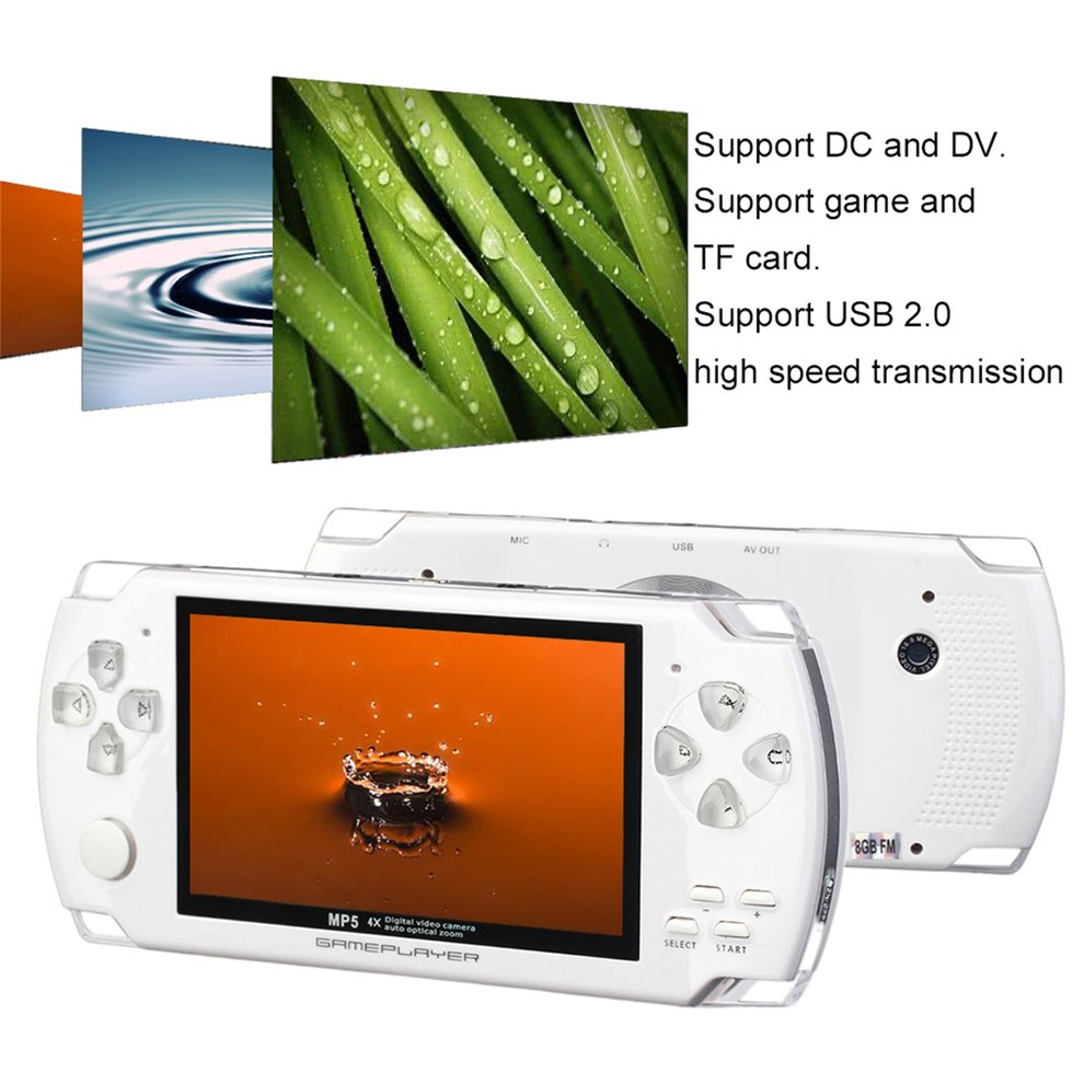 2017 Updated Portable 8GB 4.3 Inch 32Bit 100 Games Built-In Handheld Video Game Console Player