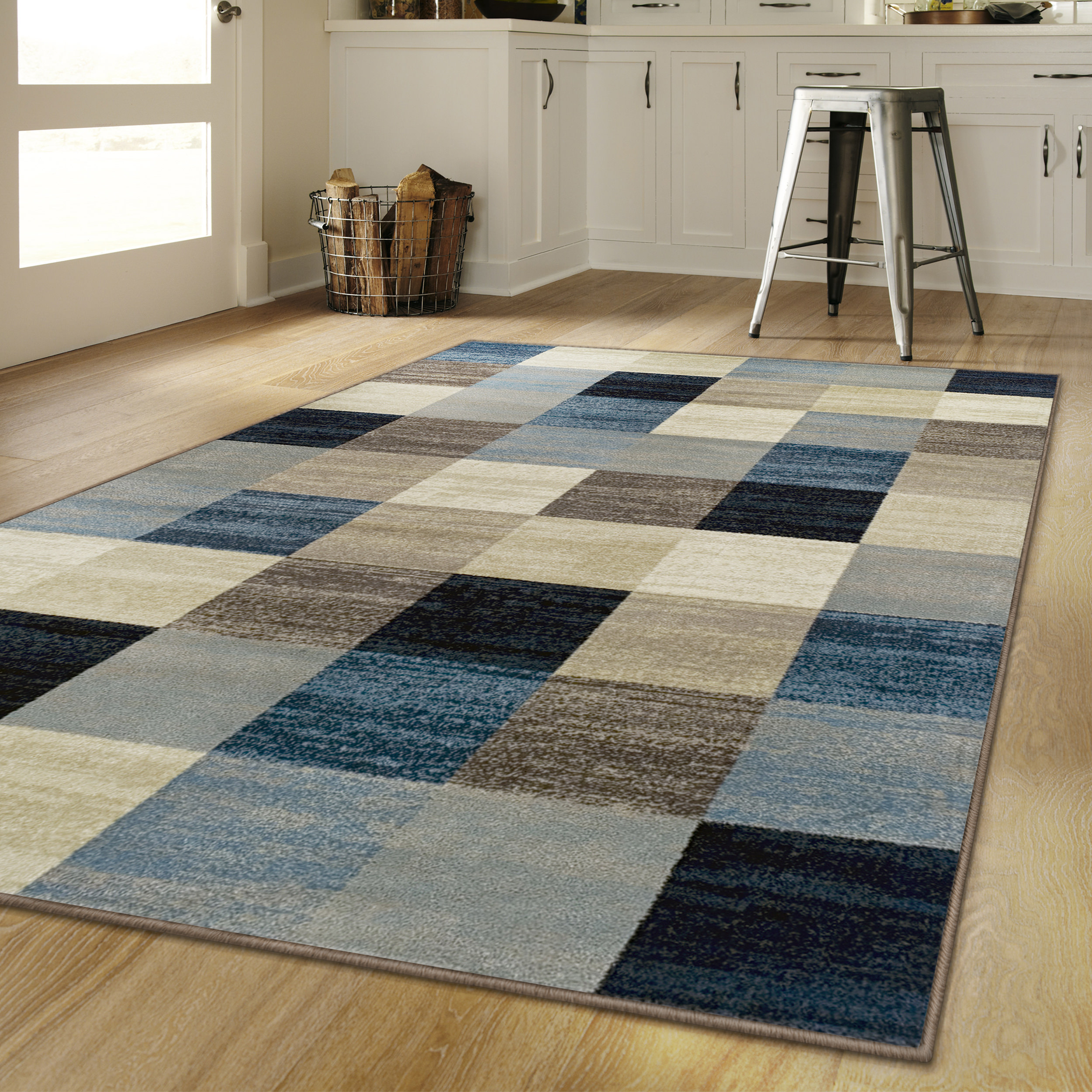"Superior's 10mm Pile Height with Jute Backing, Durable, Fashionable and Easy Maintenance, Rockaway Collection Area Rug, 2'7"" x 8' Runner - Multi Color"