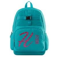 Personalized Glitter Name & Initial Aqua Backpack - Pink Personalized Glitter