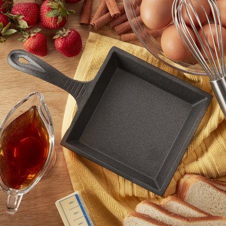 Lifetime Brands Preseasoned Cast Iron 5 Inch Square Mini Fry (Mini Pan)