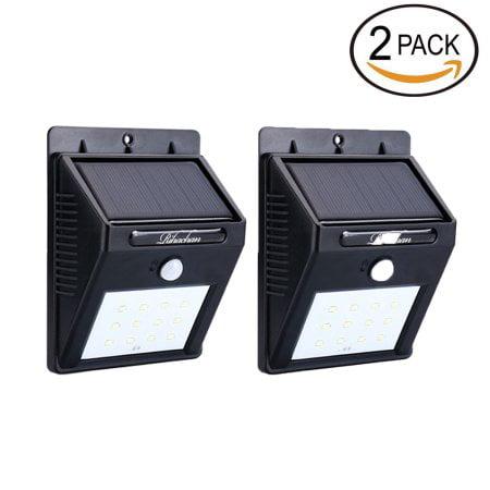 (Solar LED Lights Solar Sensor Motion Light 12 LED Outdoor Lamp Waterproof 2 Pack)