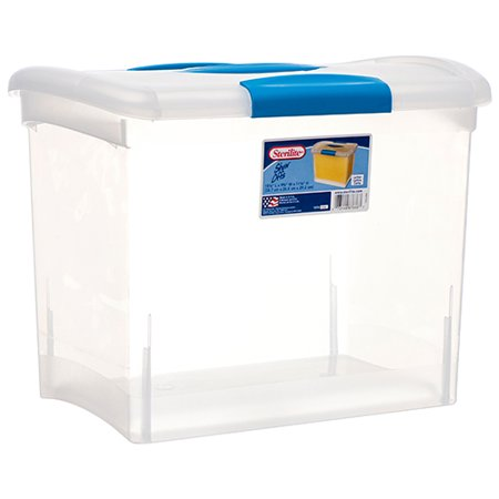 New 369900  Sterilite Storage Container W / Blue Lid (6-Pack) Laundry Accessories Cheap Wholesale Discount Bulk Household Laundry Accessories](Cheap Stores)