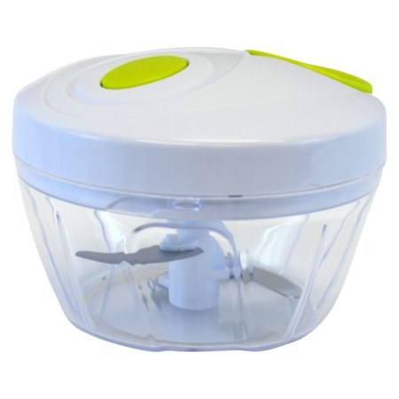 Manual Handheld Food Chopper, 3 Blade, 12oz ()