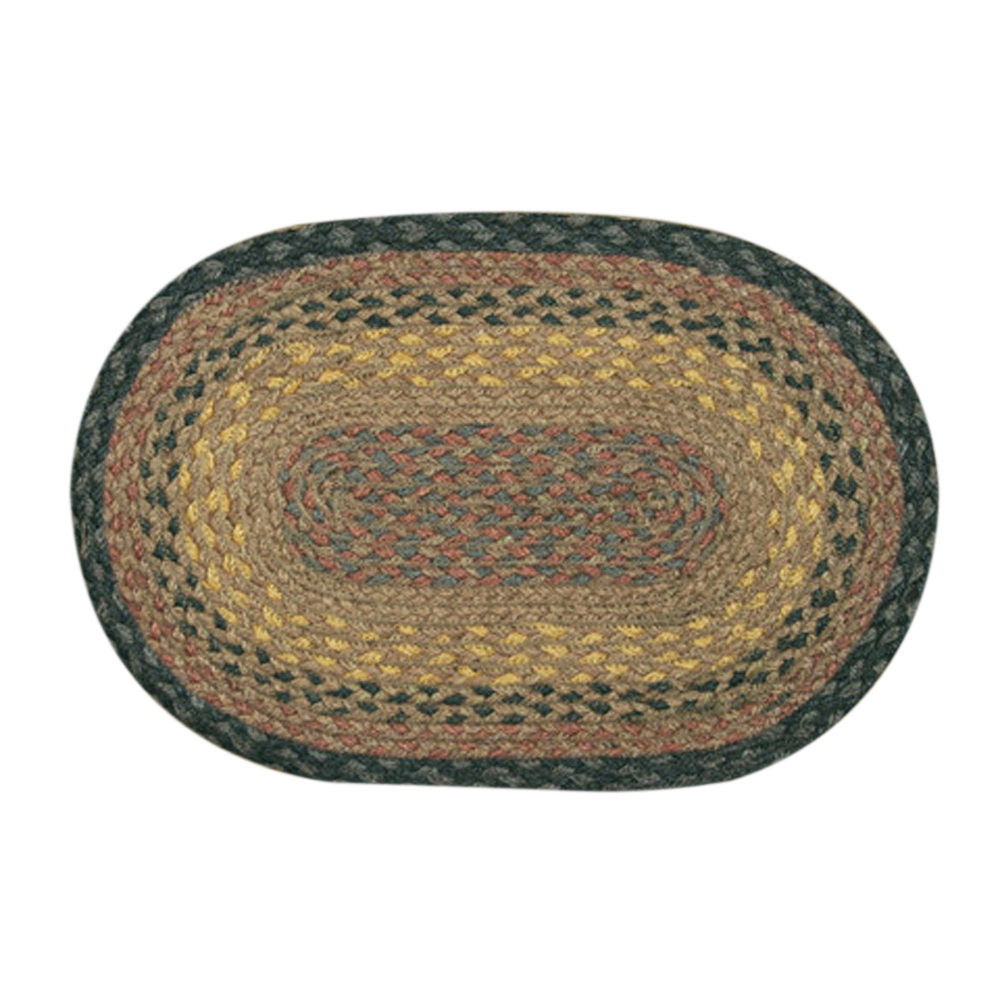 "Earth Rugs MS-099 Oval Swatch, 10 x 15"""", Brown/Black/Charcoal"