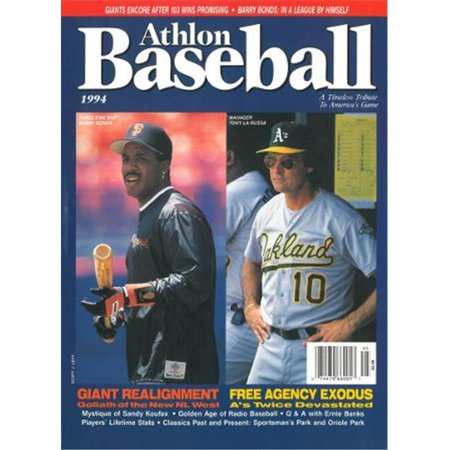 Athlon Ctbl 013269 Barry Bonds Unsigned San Francisco Giants Sports 1994 Mlb Baseball Preview Magazine With Larussa