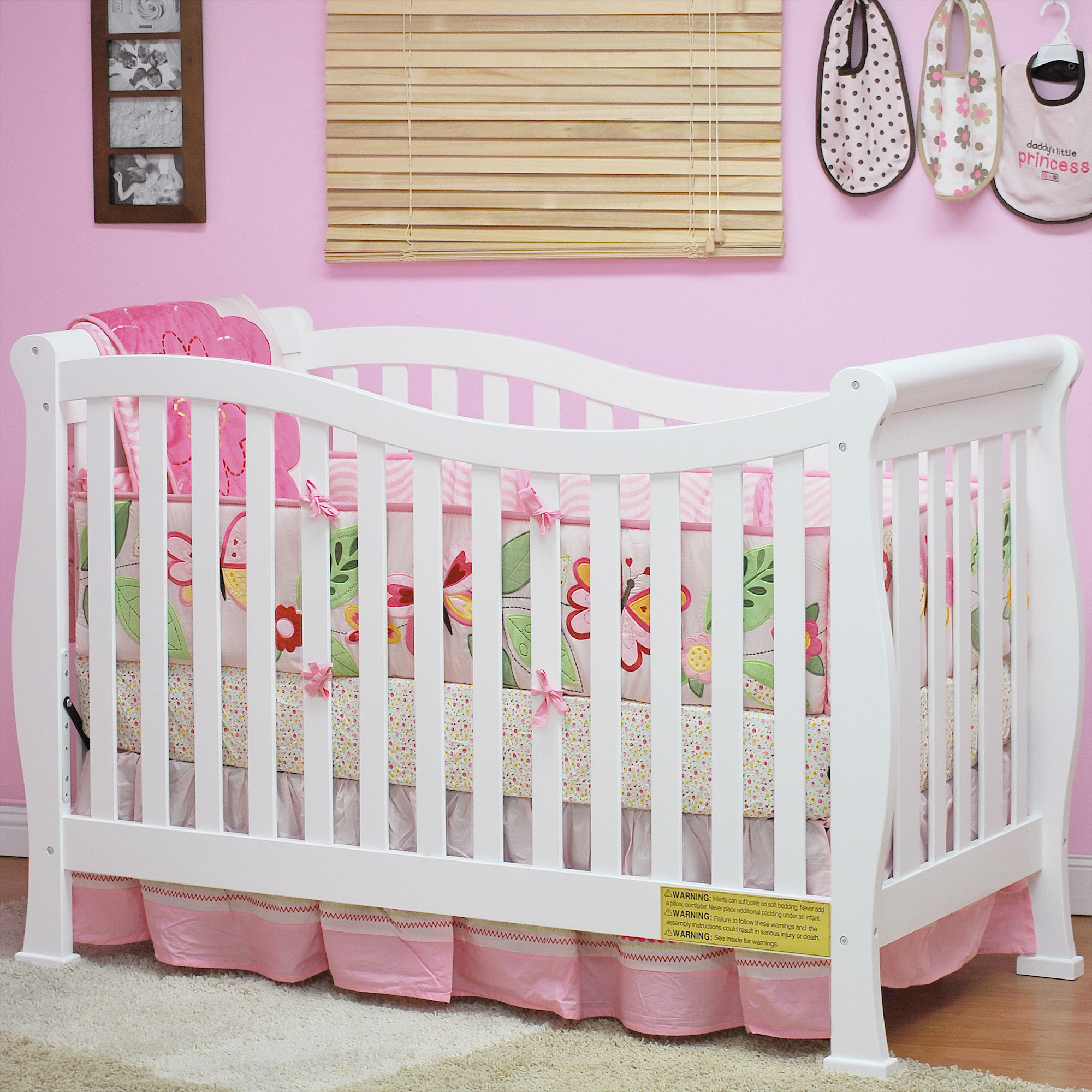 AFG Athena Nadia 3-in-1 Fixed Side Crib with Toddler Rail, Choose Your Finish